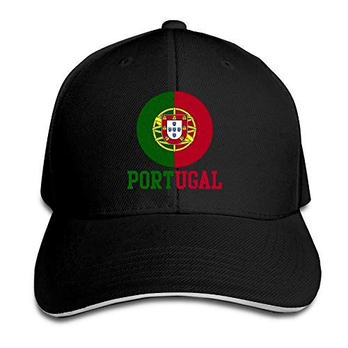 WefyLtesnhd Cap Hat Portugal Soccer Team Sandwich Peaked Hat/Cap Black Bmw-sandwich-cap