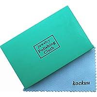 kockuu - Juego de 10 paños de Limpieza para Joyas (latón y Cobre, Chapado en Oro, 10 Unidades), Color Dorado Azul