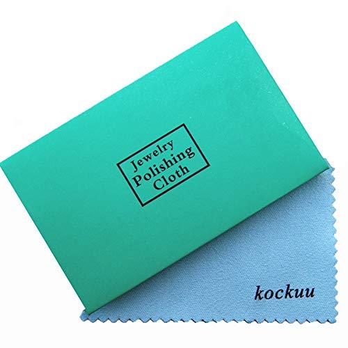 kockuu Panno per Oro Argento Platino in Ottone e Rame, 10Confezione Gioielli di Pulizia, confezionate singolarmente in Carta Premium–Confezione da 10/30 Blue