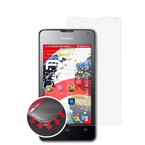 atFolix Schutzfolie passend für Huawei Ascend Y300 Folie, entspiegelnde & Flexible FX Bildschirmschutzfolie (3X)
