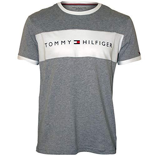7037593520f Tommy hilfiger logo tops t shirts the best Amazon price in SaveMoney.es
