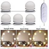 Best Makeup Lights - Zhuotop 10 LED Vanity Mirror Lights Kit For Review