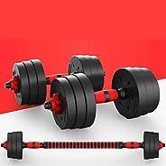 Kit Mancuernas Regulables 20KG / 30KG Perpetual.Fitness Musculación Juego Pesas 2 en 1 Barra Conector Ajustabl