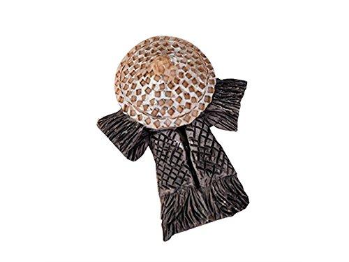 Milpo Linda 1 Unid Mini Strohhut aus Bambus Regenhut Kleidung Ornamente Bonsai Garten Dekoration Puppenhaus DIY (Grau) Kleine Ornamente
