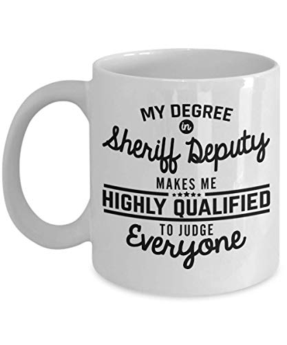 Sheriff Deputy Mug Funny Gift For Police Law Enforcement Officer Marshal Constable Man Woman Best