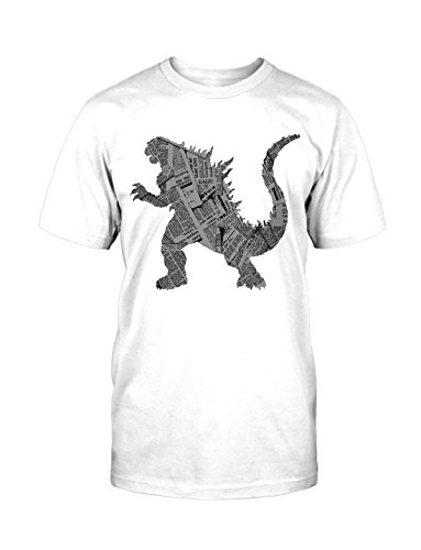 Kaiju T-Shirt Neu Monster Dino Saurier Fun Funny Lustig Blogger Retro Kult Movie Weiß