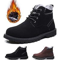 Hombres Zapatos de Nieve Invierno Botines, gracosy Calentar Botas De Nieve Anti-Deslizante Lazada