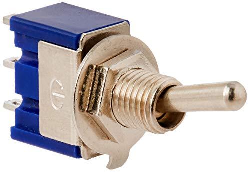 sourcingmap® 10 Pcs AC, 125 V, 6A 250V 3A On-Off 2 Position SPDT Mini Toggle Switch, Blau de