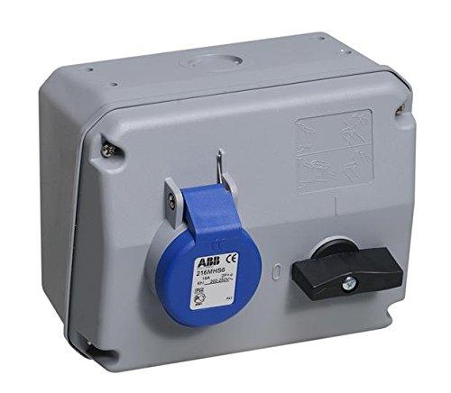 ABB 216mhs6IP442P + E Schalter Interlock Steckdose Horizontal, TPU, Blau