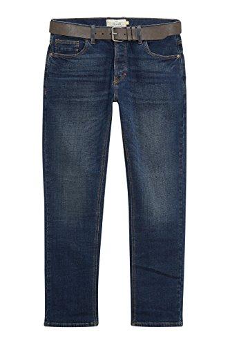 next Jean avec ceinture Straight Fit Homme Dirty Denim