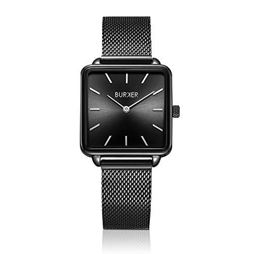 BURKER Chloe – Damenuhr | 28mm Uhr für Damen mit Ziffernblatt in | Frauen Quarz Armbanduhr wasserdicht (30M) | Kleines Flaches Watch Gehäuse – Uhren Armband inklusive