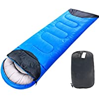 Sacco a pelo ultraleggero compatto, Sacco a pelo leggero portatile impermeabile e confortevole con sacco a compressione - Singolo