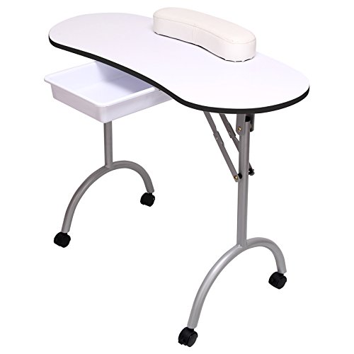 DHOUTDOORS Table de Manucure Portative Pliable Professionnelle Silencieuse pour Salon de Beauté...