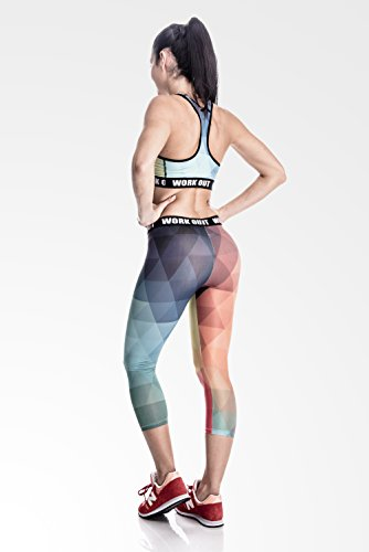 Fringoo - Soutien-gorge - Femme Multicolore Bigarré Taille Unique, B Rainbow - Bra