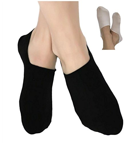 Damen Herren Füßlinge Invisible 96% Bio-Baumwolle 1-3-6-8-12 Paar Söckchen Ballerina Footies Sneaker Socken Schweißabsorbierend (39-42, schwarz)