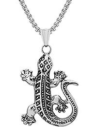 Rhodium /überzogenes Ein Paar Gecko Eidechse Manschettenkn/öpfe MIT PR/ÄSENTATIONS GESCHENKKASTEN Massives Messing