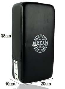 Pao Bouclier de frappe Boxe Karaté Art Martiaux 38x20x10cm CUIR NOIR