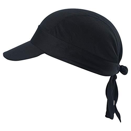 HASAGEI Sports Bandana Kopftuch Hat Herren Damen Stirnbänder Laufen Mütze Fahrrad Helmmütze Piraten Skull Cap (Schwarz-B) Sport Mütze