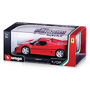 Bburago 15646100 BB - Maqueta de Ferrari (Escala 1:32), Color Rojo