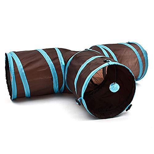 Erduo Lustige T Form Nylon Katzen Tunnel Spielzeug DREI Wege Faltbare Home Folding Training Tunnel Pet Produkte Zubehör Liefert