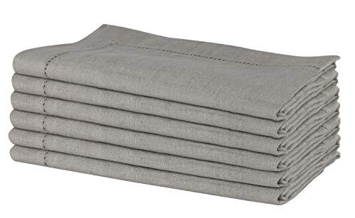 SweetNeedle - Packung mit 6 - 100% reinem Leinen, handgefertigte Leiter, gesteppte Servietten 50 cm x 50 cm (20 Zoll x...