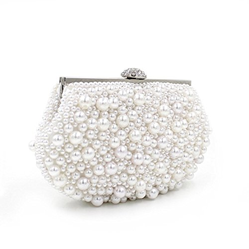 Flada, Poschette giorno donna bianco Pearl White medium Pearl White