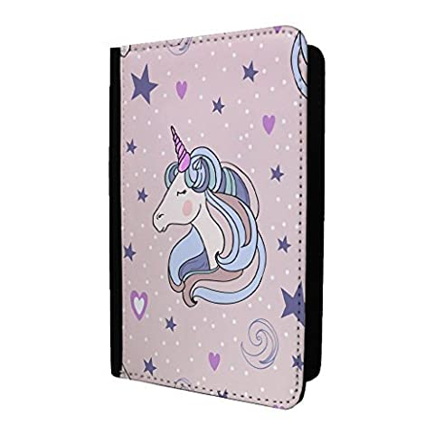 Licornes Cœurs Cheval Porte-passeport Étui Housse - S1976