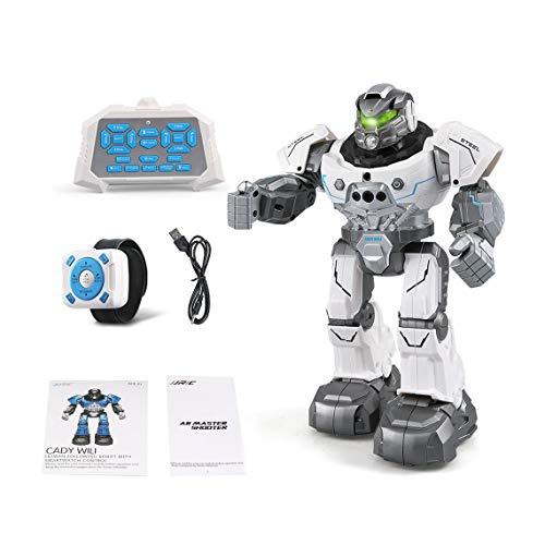 Momorain JJR / C R5 Cady WILI Intelligente Roboter Fernbedienung Programmierbare Auto Folgen Geste Sensor Musik Dance RC Spielzeug Kinder Geschenk (Farbe: Weiß)