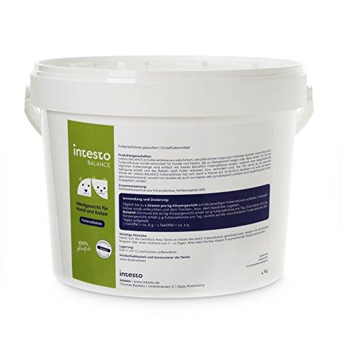 Intesto Futterzellulose 4 kg Diätfutter für Hunde, bei Übergewicht oder wählerischen Hunden