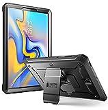 SupCase Hülle für Samsung Galaxy Tab S4 10.5 Zoll Case 360 Grad Schutzhülle Robust Cover Schale [Unicorn Beetle PRO] mit integriertem Bildschirmschutz & Ständer 2018 (SM-T830 / T835 / T837) (Schwarz)