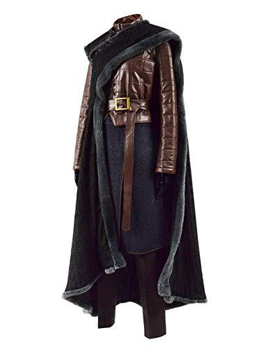 IDEALcos Arya Stark Halloween Cosplay Party Kostüm Damen Outfit Anzug Komplettset (L, Braun)