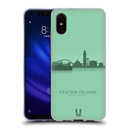 Head Case Designs Staten Island Landmarken Silhouettes 2 - Us Soft Gel Huelle kompatibel mit Xiaomi Mi 8 Pro