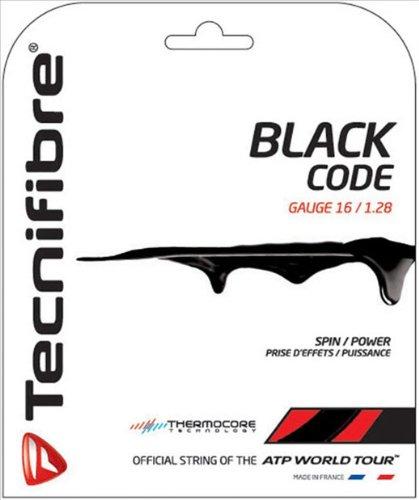 TECNIFIBRE Cordage de tennis Black Code, Noir, 1.28mm