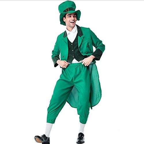 ASDF COS Halloween Irish Leprechaun Elf Kostüm für - Jungen Kobold Kostüm