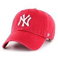 47 Brand Relaxed Fit Cap - CLEAN UP New York Yankees rood