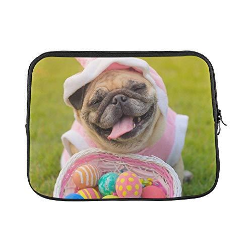 Mops Kostüm Herr - QuqUshop Design Benutzerdefinierte Kitz Mops Hund Trägt Kaninchen Kostüm Sleeve Weiche Laptop Tasche Tasche Haut Für MacBook Air 11