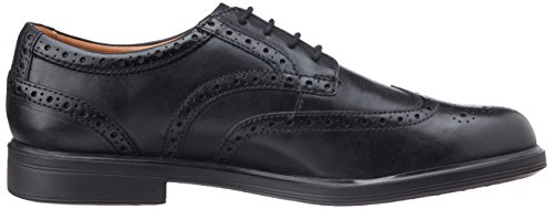 Clarks Gabson Limit Herren Brogue Schnürhalbschuhe Schwarz (Black Leather)