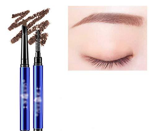 CWJ Doppelköpfiger Augenbrauenstift, Wasserfest, schweißbeständig, Nicht Leicht zu verfärben, Nicht blühend, natürlich, Dauerhaft, Augenbraue, Augenbrauenpinsel,Rotbraun,Wie Gezeigt