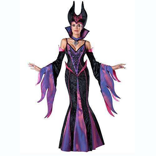 Hexe Kostüm Mädchen Blühen - Shisky Cosplay kostüm Damen, Schlafende Zauber schwarz Hexe Halloween Kostüm Bar Party Kostüm Cosplay Leistung Kostüm