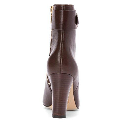 Michael Michael Kors Guiliana Ankle Bootie Cuir Bottine Dk Chocolate