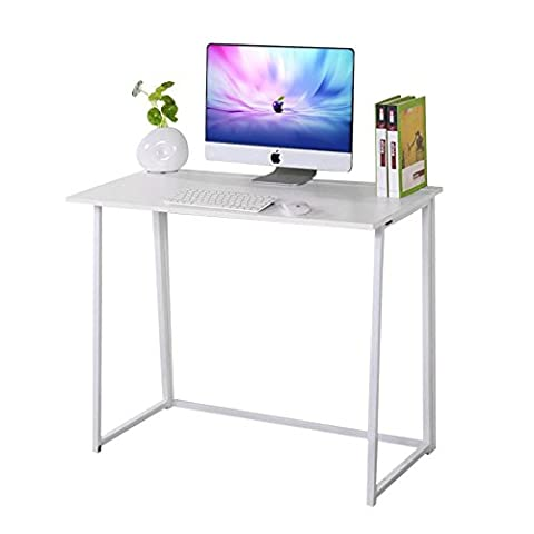 Dripex Compact Folding Computer Desk Laptop Office Home Table (White)