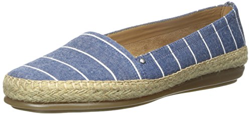 Aerosoles Solitaire Toile Espadrille Denim Stripe