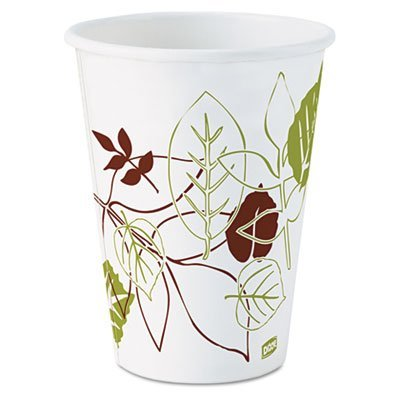 Dixie 2342PATH Pathways Paper Hot Cups, 12 oz, 1000-Carton by Dixie