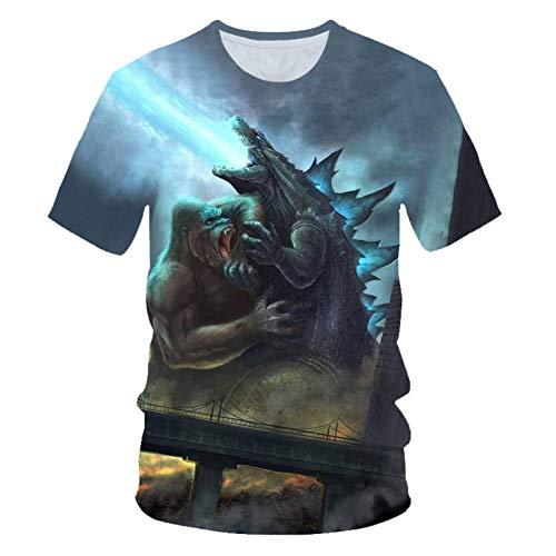 oler 3D-Digitaldruck, Kurzärmliges Herrenhemd Mit Rundem Halsausschnitt Von Monster King ()