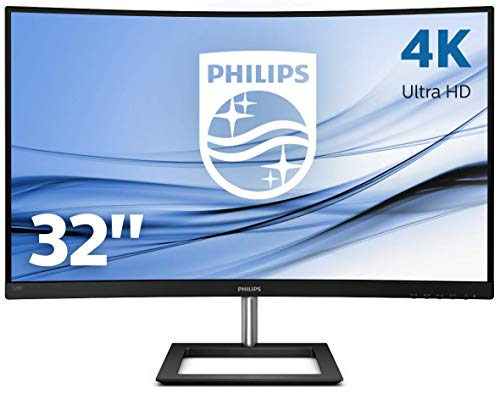 Philips 328E1CA 80 cm (31.5 Zoll) Curved Gaming Monitor (HDMI, DisplayPort, 3840×2160, 60Hz, 4 ms Reaktionszeit, FreeSync) schwarz