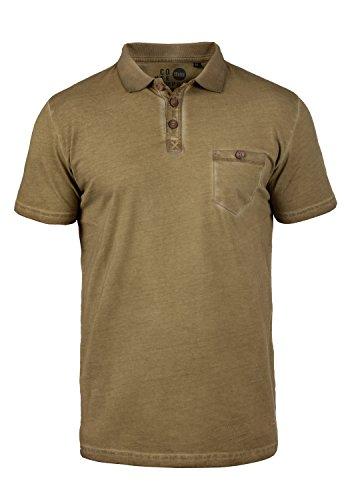 Baumwolle Tipped Pullover Mit V-ausschnitt (!Solid Termann Herren Poloshirt Polohemd T-Shirt Shirt mit Polokragen aus 100% Baumwolle, Größe:S, Farbe:Ermine (5944))