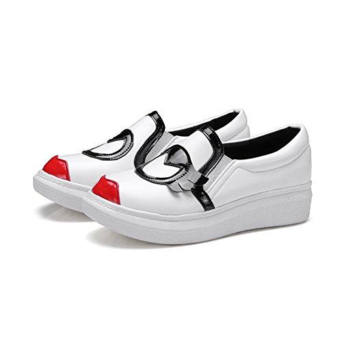 Aisun Damen Cartoon Kunstleder Rot Lippe Durchgängig Plateau Low Top Ohne Verschluss Sneakers Schwarz 41 EU j4Dj1Q1F5