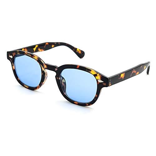 Kiss Sonnenbrille stil MOSCOT mod. DEPP ICONIC - Johnny Depp mann frau VINTAGE unisex - HAVANNA/blau