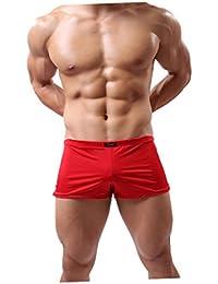 Boxer Homme Sexy Uni Pochette Invisible Sous-vêtements Confortables Caleçon Meryl
