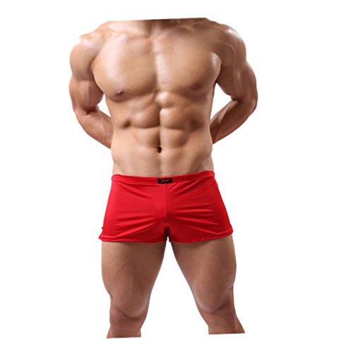 MagiDeal Boxer Brief Boxershorts Men Herren Unterhose Pant Unterwäsche komfortabel - Rot, XXL (Slinky Schauen)